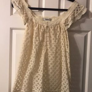 Gorgeous Babydoll Lace Ivory Top with Buttons